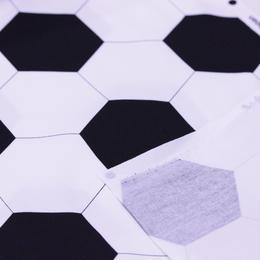 お気に入りシリーズ オックス生地 サッカーボール 110㎝幅 10㎝単位