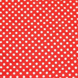 COLOR BASIC ドットキルト(赤) 【10cmあたり】