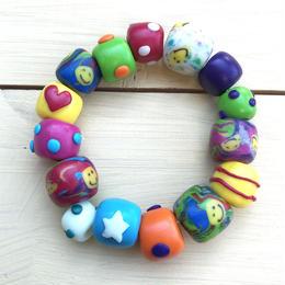 ☺︎bigビーズブレスレット☺︎(colorful)