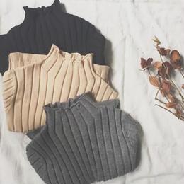 High neck lib sweater