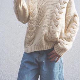 再販予約ざっくり編みknit
