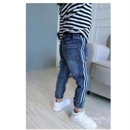 [予約]denim line pants