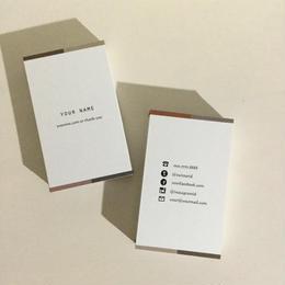 05d6_br4 カラー パーソナル名刺【100枚】【ショップカード】