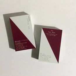 18d2_red  ビジネス名刺【100枚】【英表記】