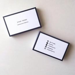 57d2_gry  パーソナル名刺【100枚】【ショップカード】