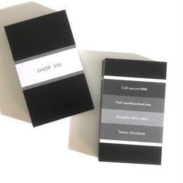 09d4_black  パーソナル名刺【100枚】【ショップカード】