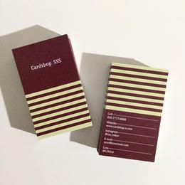 26d3_red  パーソナル名刺【100枚】【ショップカード】