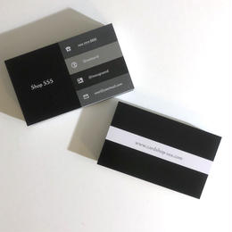 08d4_black  パーソナル名刺【100枚】【ショップカード】