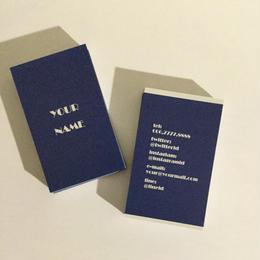 14d1_nev  パーソナル名刺【100枚】【ショップカード】