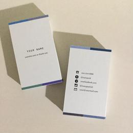 05d8_bl4 カラー パーソナル名刺【100枚】【ショップカード】