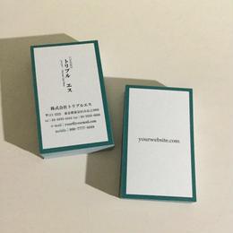 03d1_bl  ビジネス名刺【100枚】【ショップカード】
