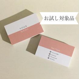 【お試し5枚】13d1_pk  パーソナル名刺【100枚】【ショップカード】