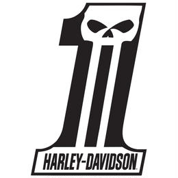 H-D® Dark Custom #1 Die-Cut and Embossed