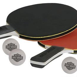ハーレーダビッドソン テーブルテニスバドルセット(卓球ラケット2本&球4個) HDL-13704