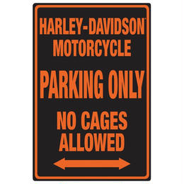 H-D® Black No Cages Embossed