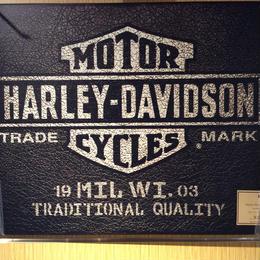 HARLEY DAVIDSON FIME ARTレザーフィルムサインボード