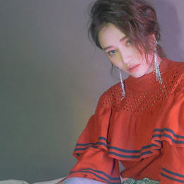 mèche frill spring knit