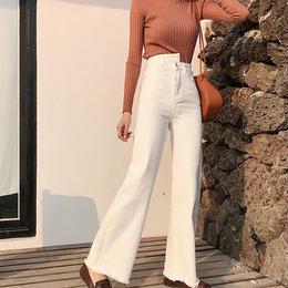 Asymmetry waist pants