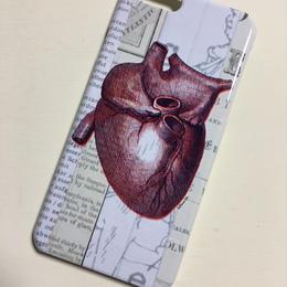 『心臓・英字』スマホケース 各機種対応・受注生産