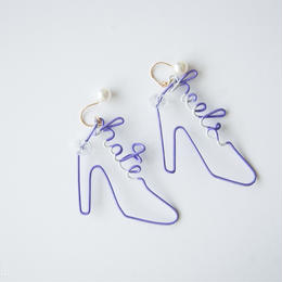 Arty Wire Pierced Earrings  - hate heels  PIERCE  / VIOLET - L