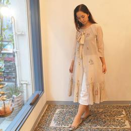 eka 木版染め オトナかわいいワンピースドレス