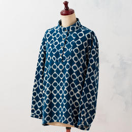 Indigo pullover:ladies (Diamond dots)