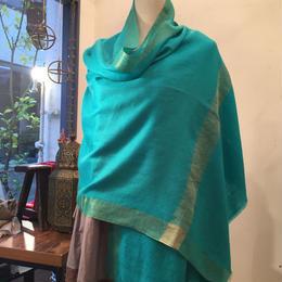【Pashmina】ゴールドシルク織りパシュミナストール