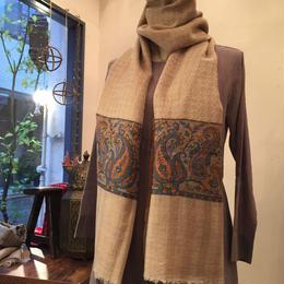【Pashmina】柄織りパシュミナストール