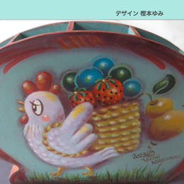 電子パケット ピーター・オンピ−ルのスタイルで描く コッコちゃんの収穫