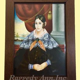 売却済み     アメリカン・フォークアートの肖像画の複製