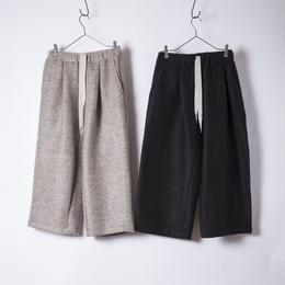boucle shaggy tuck pants