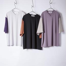 bi-color v neck