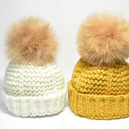 キッズ&ベビーちゃん用 秋冬ニット帽子/お好きなデザインから2点セット/送料無料