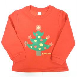クリスマス限定!!キッズ&ベビーちゃん用トレーナー/可愛いツリー柄/綿100%/送料無料/サイズ90