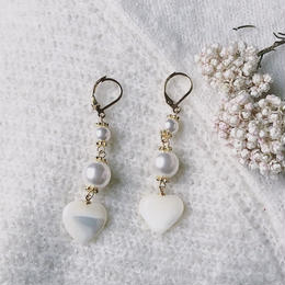 Mother opal Heart ピアス
