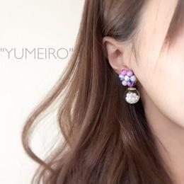 """YUMEIRO""天然石ピアス"