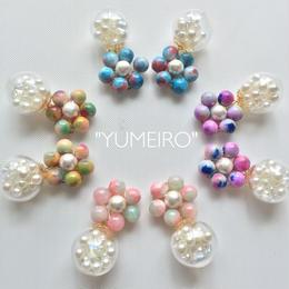 """""""YUMEIRO""""天然石イヤリング"""