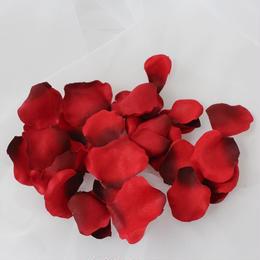 赤のシルクフラワーペタル