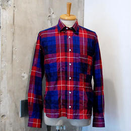STRATTON TEXTILES  Round Collar Check Shirt