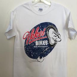 IKKEI BIKES 10anniversary Tシャツ white