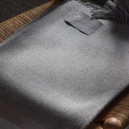 【新品】Baby Alpaca ベビーアルパカ 100% ブランケット デンマーク Danish Art Weaving社 グレー alpaca_434_12252018