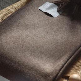 【新品】Baby Alpaca ベビーアルパカ 100% ブランケット デンマーク Danish Art Weaving社 ブラウン alpaca_211_12252018