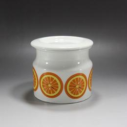 【ヴィンテージ】ARABIA Pomona ジャムポット オレンジ(ふたつき)  I-90-0522