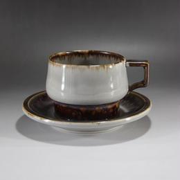 """【ヴィンテージ】 イェンス・H・クィストゴー B&G(Bing & Grondahl) """"Tema"""" ティーカップ&ソーサー  I-125/I-126-06262017"""