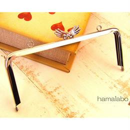 【HA-490】18cm角型/「天使の羽」の口金(シルバー)カン付き