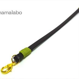 【HA-601】《高級レザー》がま口用の革紐(かわひも)22cm【ゴールド金具】