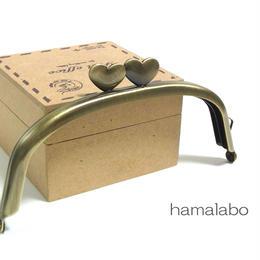 【HA-1309】ハート口金12.5cm/くし型(アンティークゴールド)