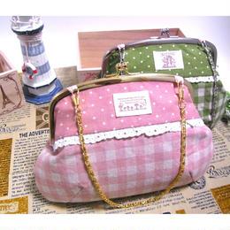 12月20日販売開始!【KT-1016】がま口バッグの型紙&レシピ【17cm用】