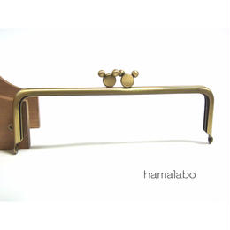<アウトレット>【HA-1343】ハマラボちゃん口金 16.5cm/角型(アンティークゴールド)