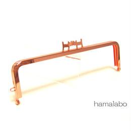 9月7日販売開始!【HA-1432】ペアネコ口金/16.5cm角型(ローズゴールド-ピンクゴールド)